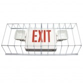"Best Lighting Products Wire Guard for Dual-Head Emergency/Exit Combo Fixtures 13.5"" HIGH X 30"" WIDE X 6"" DEEP (WG-3)"