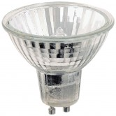 20 Watt MR11 Halogen 120V Twist & Lock (GU10) Base Covered Glass Flood Bulb - FTD (FTD/CG/GU10)