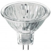35 Watt MR16 Halogen 2800K 120V Bipin (GX5.3) Base Clear Covered Glass Flood Bulb - FMW (JDR-C/GX5.3/120V35W)
