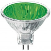 Athalon 50 Watt MR16 Halogen 2800K 12V Bipin (GU5.3) Base Green Covered Glass Flood Bulb - EXN (EXN/GR/ATH)