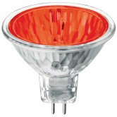 Athalon 50 Watt MR16 Halogen 1700K 12V Bipin (GU5.3) Base Red Covered Glass Flood Bulb - EXN (EXN/RD/ATH)