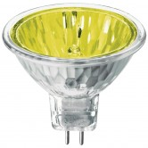 Athalon 50 Watt MR16 Halogen 1650K 12V Bipin (GU5.3) Base Yellow Covered Glass Flood Bulb - EXN (EXN/YL/ATH)