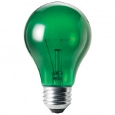 25 Watt A19 Incandescent 130V Medium (E26) Base Transparent Green Bulb (A19GRN25T)