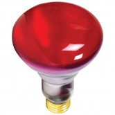 Athalon 65 Watt BR30 Incandescent 130V Medium (E26) Base Red Bulb (65BR30/R/ATH)