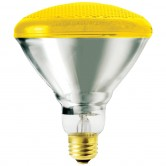 SLI 100 Watt BR38 Incandescent 130V Medium (E26) Base Yellow Bulb (100BRL/BUG-YLW/FL)
