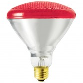 SLI 100 Watt BR38 Incandescent 130V Medium (E26) Base Red Bulb (100BR38R)