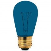 11 Watt S14 Incandescent 130V Medium (E26) Base Transparent Blue Sign Bulb (11S14/TB130)
