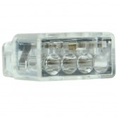 NSI Clear 4-Port Push-In Wire Connector for 22-12 AWG Wire 75 Per Box (PIWC-4C)