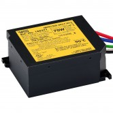 Electronic Ballast for 1 Metal Halide 70 Watt M98 Lamp Operated at 120V Featuring a Metal Heat Sink Cover (M7012-27CK-6EU-F)